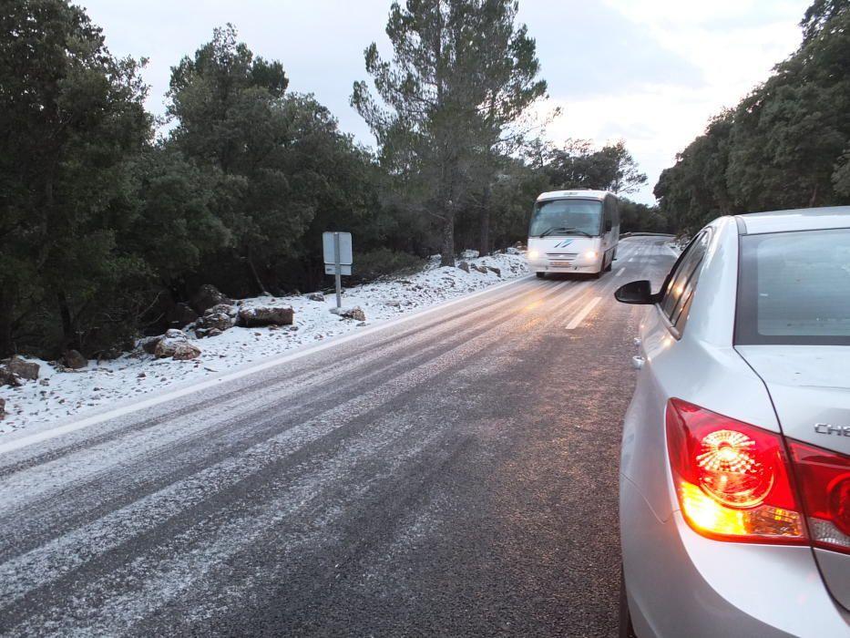 Schnee Mallorca Winter 2017