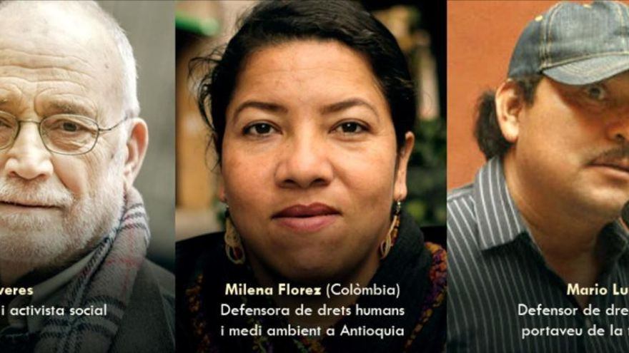 Arcadi Oliveres i dos refugiats posen el «termòmetre» als drets humans, a Manresa