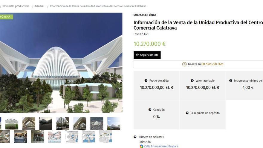 El Calatrava ya está a la venta en internet