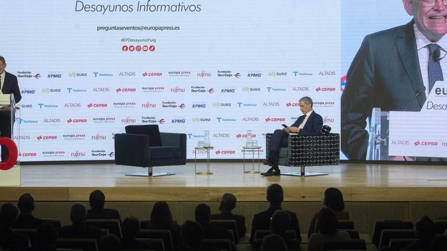 Enganchón en el Botànic por la conferencia del presidente Puig en Madrid