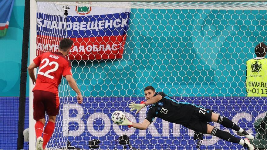 La tanda de penaltis del Suiza - España, en imágenes