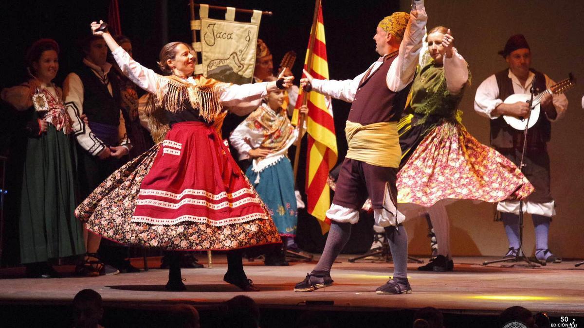 Una actuación de una edición pasada del Festival Folklórico de los Pirineos.