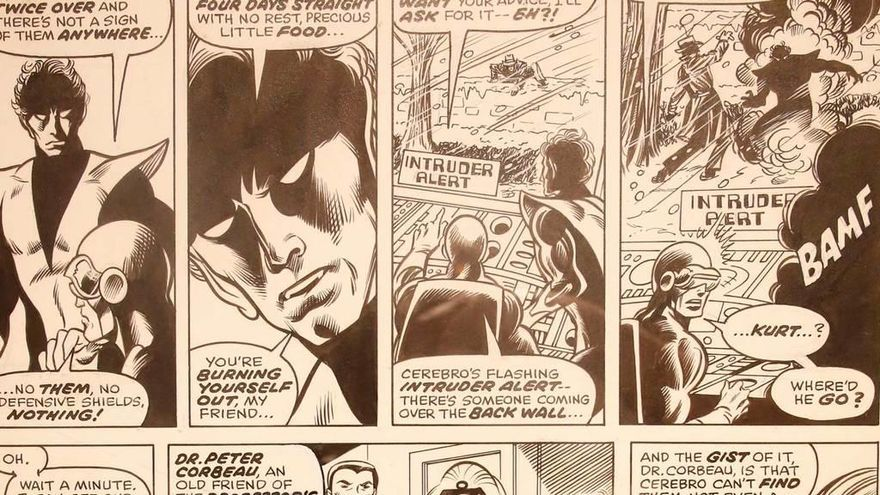 """El cómic clásico de """"Los 4 Fantásticos"""" y """"Daredevil"""", en la pared"""