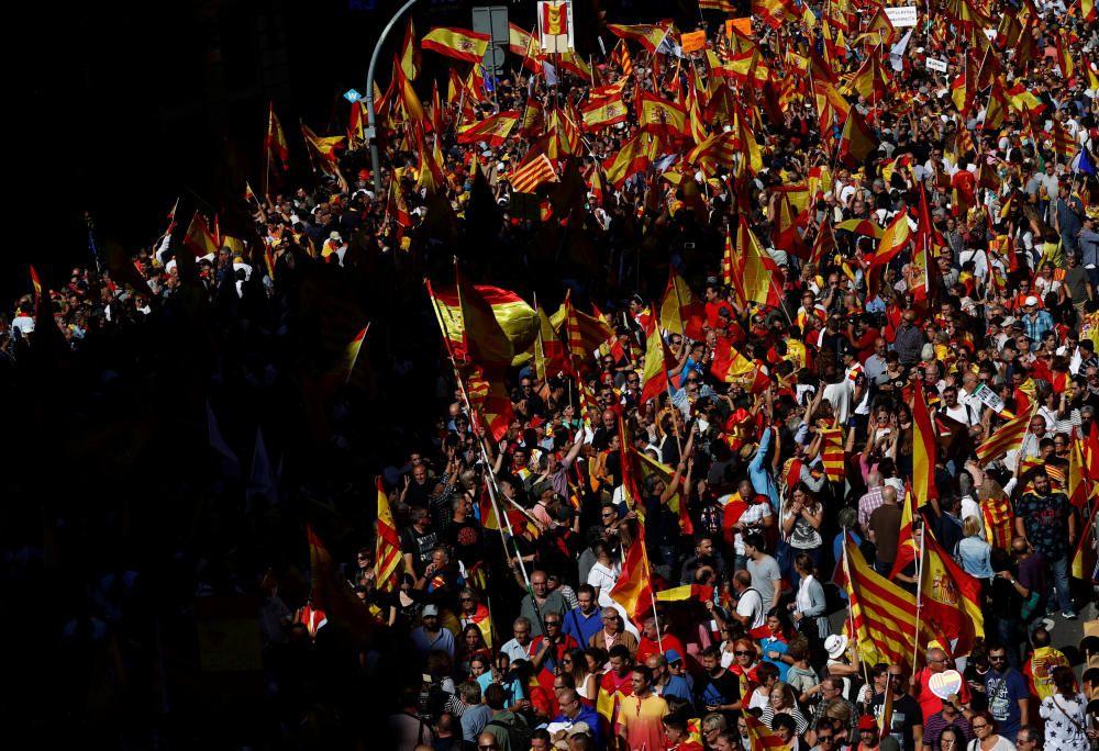 Manifestación en Barcelona por la unidad de España
