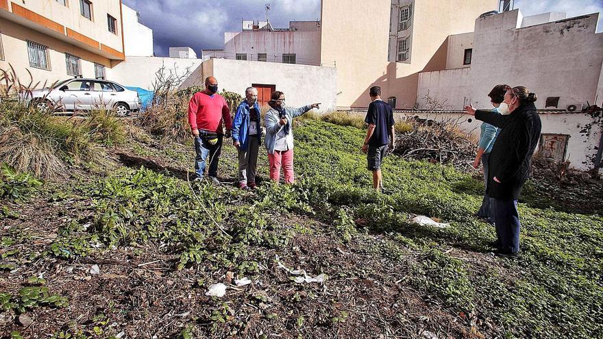 Un solar abandonado de La Cuesta, foco de ratas, insectos y suciedad