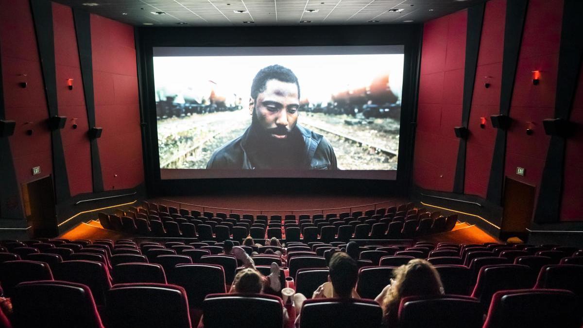 'Tenet', proyectada en un cine de Virginia (EEUU).