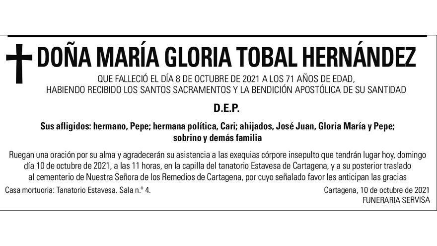 Dª María Gloria Tobal Hernández