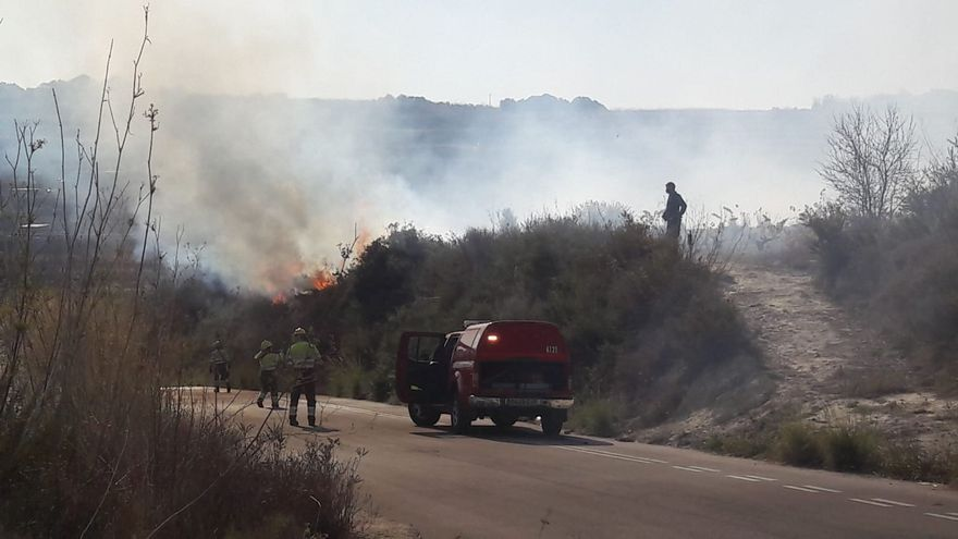 Sofocan con rapidez un incendio en Teulada