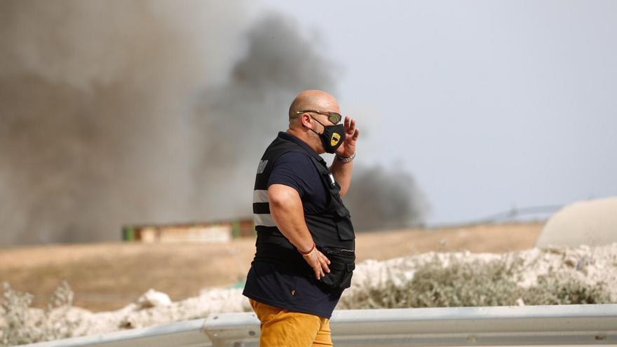 Nuevo incendio en el vertedero de Ibiza