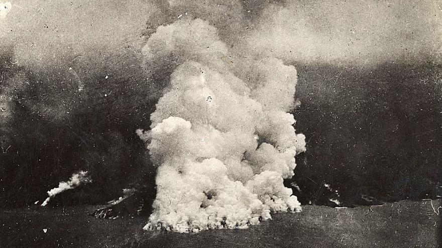 La erupción del actual volcán de La Palma se desarrolla como la de San Juan en 1949