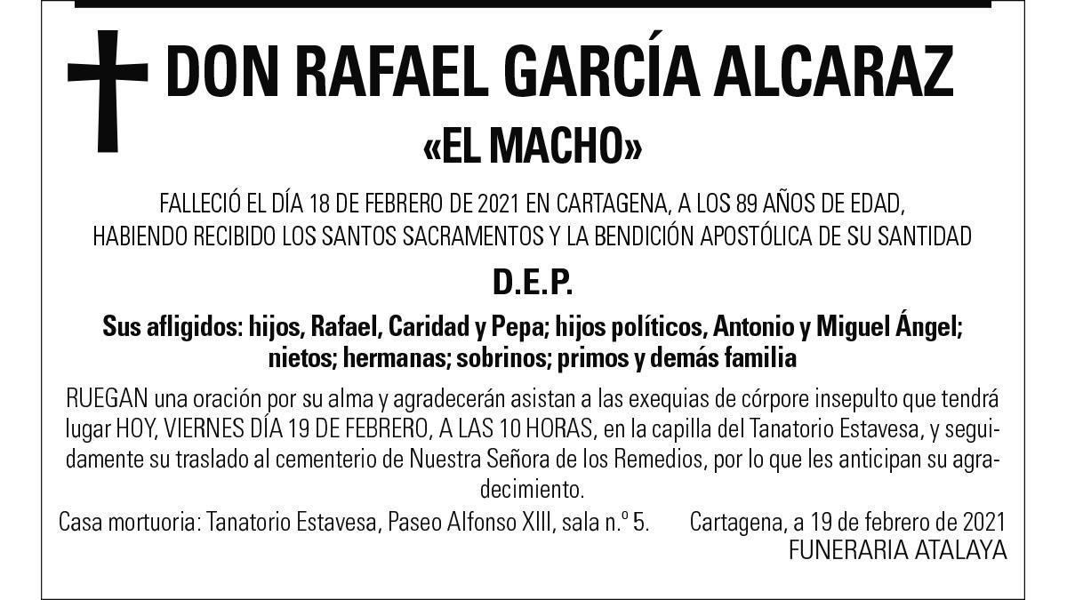 D. Rafael García Alcaraz