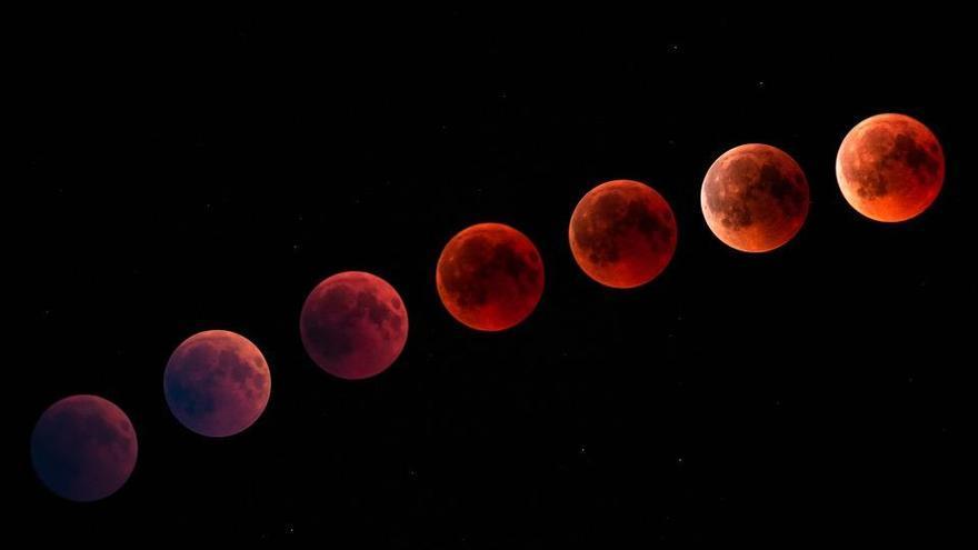 Luna de sangre y Superluna, un espectáculo en el cielo nocturno este lunes
