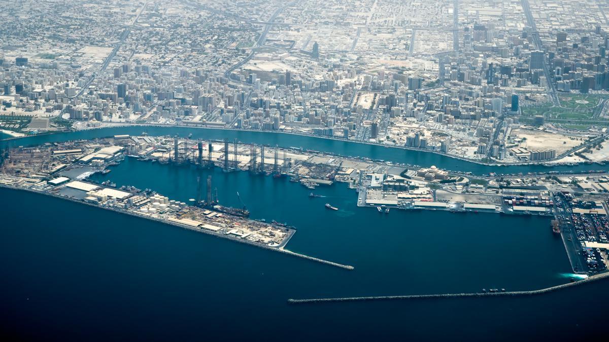 Puerto de Dubai.