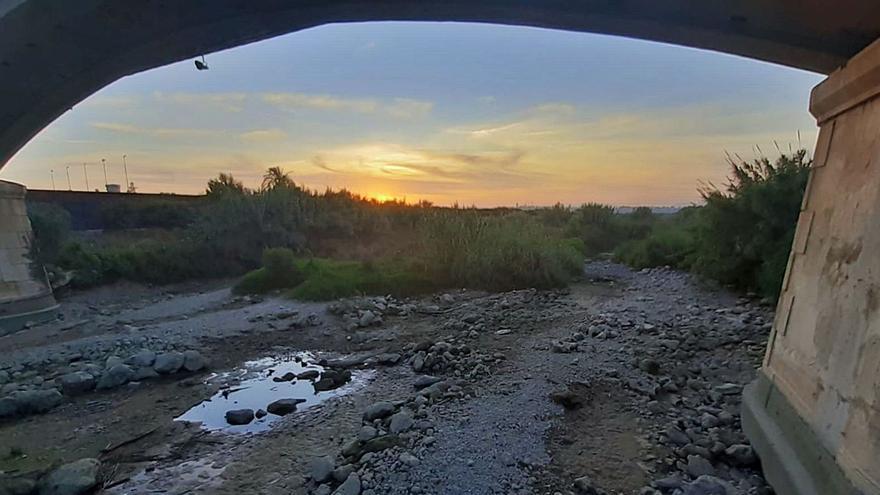 El río Albaida vuelve a secarse